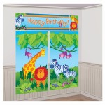 Amscan Jungle Animals Scene Setters Wall Decorating