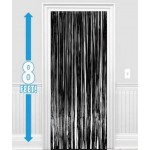 Amscan Dazzling Foil Metallic Decoration Curtain 8ft x 3ftb ~ Black