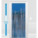Amscan Dazzling Foil Metallic Decoration Curtain 8ft x 3ftb ~ Blue