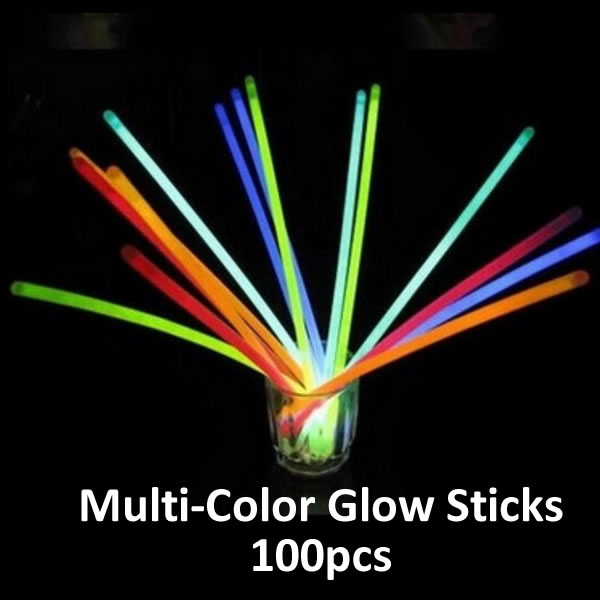 Party Toys - Multi-Color Glow In The Dark Light Sticks For Party and Events ~ 100pcs