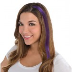 Party Toys - Amscan Hair Extensions Purple 17 x 2 inch