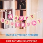 Korea Style Round Happy Birthday Banner ~ 1.9m