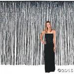 Decoration Item - Amscan Dazzling Foil Metallic Curtain Black 8 ft x 3 ft