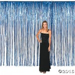 Decoration Item - Amscan Dazzling Foil Metallic Curtain Blue 8 ft x 3 ft