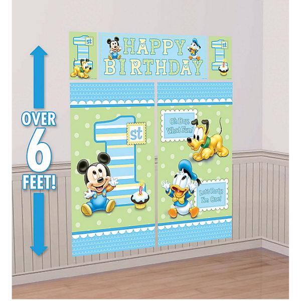 Scene Setter - Amscan Mickey 1st Birthday Scene Setter