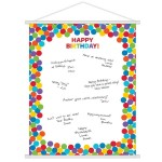 Amscan Rainbow Birthday Sign-In Sheet 19 x 24 inch