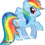 Anagram 28 x 27 inch My Little Pony Rainbow Dash