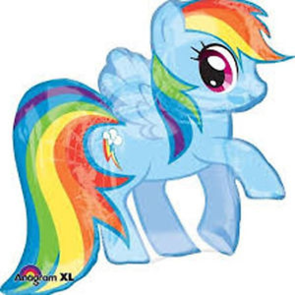 Character Balloons - Anagram 28 x 27 inch My Little Pony Rainbow Dash