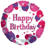 CTI 17 inch Happy Birthday Girl