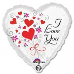 Anagram 17 inch I Love You Floral Hearts