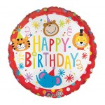 Anagram 17 inch Circus Theme Happy Birthday
