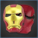 Child Plastic Iron Man Mask