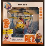 Party Toys - Mini Helicopter Despicable Me Minions Induction Sensor Flying Aircraft
