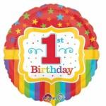 Anagram 17 inch Rainbow 1st Birthday