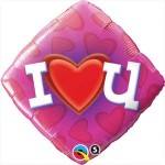 Qualatex 18 inch Diamond Foil Love Heart U
