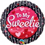 Qualatex 18 inch To My Sweetie Hearts & Dots