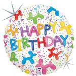 Betallic 18 inch Balloon Dog Birthday