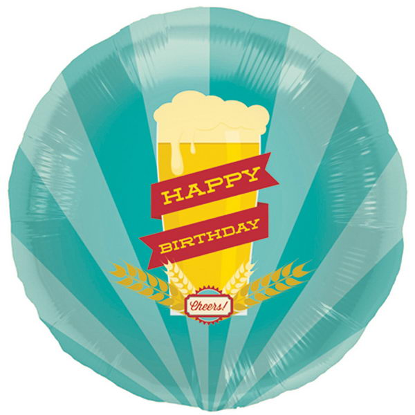 Birthday Balloons - Northstar 18 inch Happy Birthday Brew