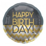 Northstar 18 inch Happy Birthday Chevron Dots