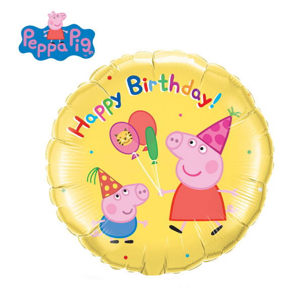 Character Balloons - Qualatex 18 inch Peppa Pig Birthday