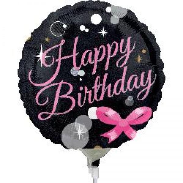 Birthday Balloons - Anagram 9 inch Happy Birthday Bubbles