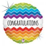 Betallic 9 inch Chevron Congratulations