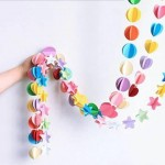 Confetti Garland With String For Decoration