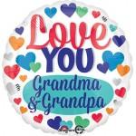 Anagram 17 inch Love You Grandma & Grandpa