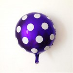 "Mytex 18"" Inch Polka Dots Purple Foil Balloon"