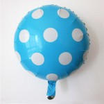 "Mytex 18"" Inch Polka Dots Blue Foil Balloon"