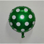 "Mytex 18"" Inch Polka Dots Dark Green Foil Balloon"