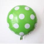 "Mytex 18"" Inch Polka Dots green Foil Balloon"