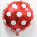 "Mytex 18"" Inch Polka Dots Red Foil Balloon"