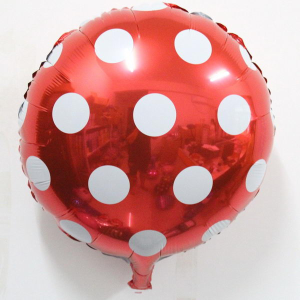 Value Pack Selection - Mytex 18 Inch Polka Dots Red Foil Balloon