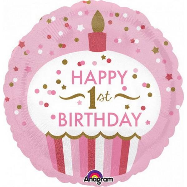 Anagram 18 Inch 1st Birthday Cupcake Girl