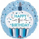 Anagram 18 inch 1st Birthday Cupcake Boy