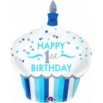 Anagram 29 x 36 inch 1st Birthday Cupcake Boy