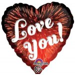 Anagram 17 inch Love You Fireworks