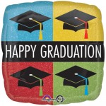 Anagram 17 inch Happy Graduation Caps