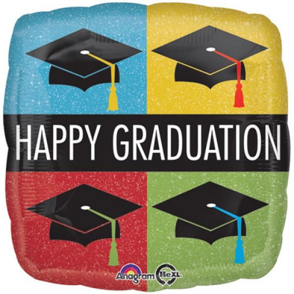Graduation - Anagram 17 inch Happy Graduation Caps