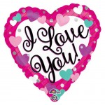 Anagram 17 inch Love You Purple, Pink & Teal