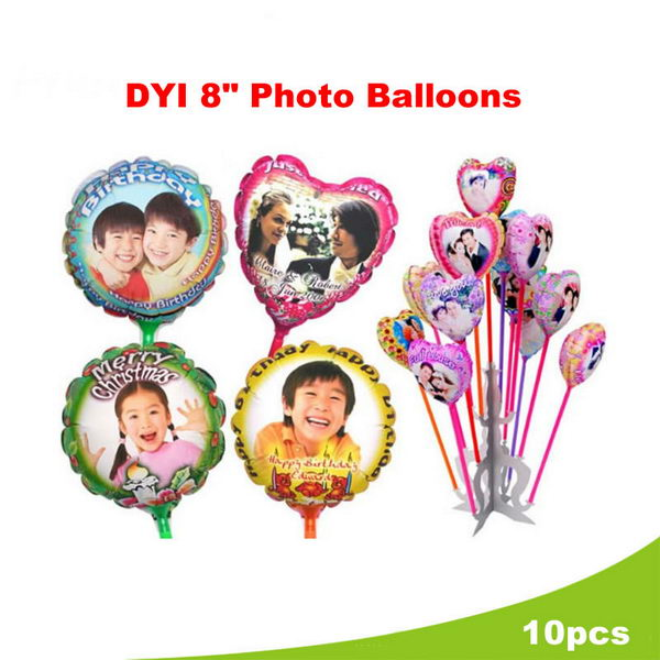 Others - DIY 8 Inch Personalize Photo Balloons