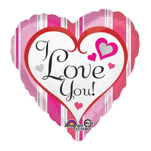 Love & Affection - Anagram 17 inch I Love You Hearts