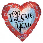 Anagram 18 inch Sparkle Heart Love You