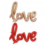 Mytex 32 Inch Love Script Joint Foil Balloon