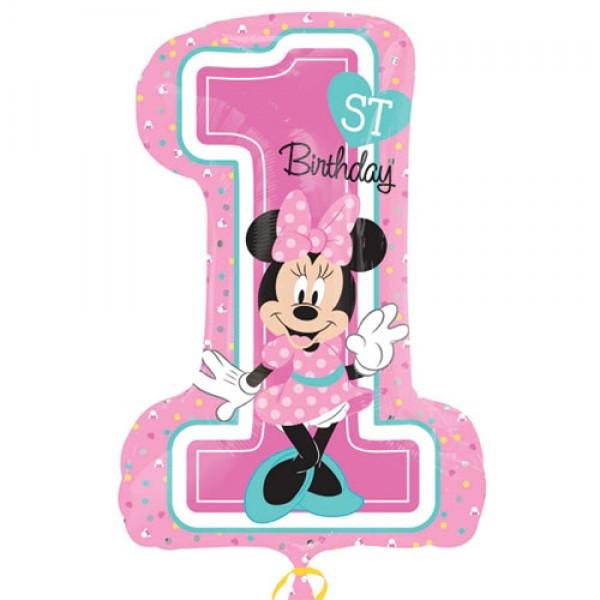 Children Balloons - Anagram 19 x 28 inch Minnie 1st Birthday