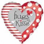 Anagram 17 inch Red & White Hugs & Kisses