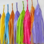 Paper Tassel Garland Party Decoration ~ 5pcs