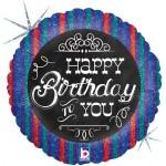 Betallic 18 inch Chalkboard Birthday