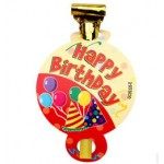 Happy Birthday Blowout With Card ~ 6pcs